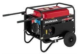 Stromerzeuger Honda ECMT 7000 mit Radsatz